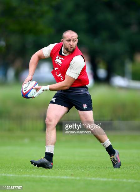 Tom Dunn of England during the England Media Access at The Lensbury on May 31 2019 in Teddington England