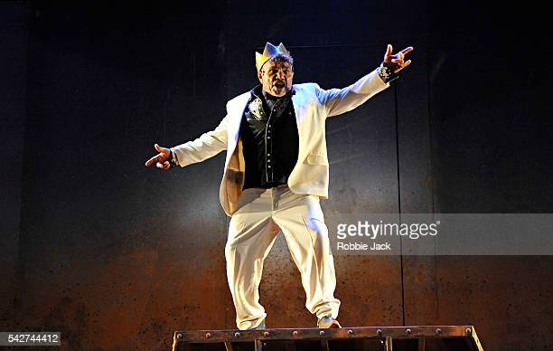 Tom E Lewis as King Lear in Malthouse Theatre's production of The Shadow King directed by Michael Kantor at the Barbican Centre on June 22, 2016 in...