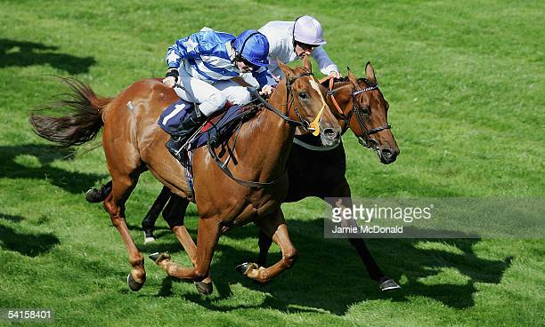 Tom Eaves rides Everest to win The Home Of Horse Racing Apprentice Handicap Stakes run at Newmarket Racecourse on September 2 2005 in Newmarket...