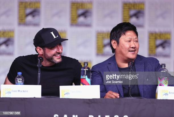 Tom Ellis and Benedict Wong attend Entertainment Weekly Brave Warriors panel during San Diego ComicCon 2018 at the San Diego Convention Center on...