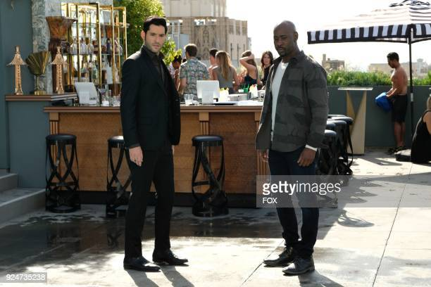 Tom Ellis and DB Woodside in theInfernal Guinea Pig episode of LUCIFER airingMonday March 5 on FOX