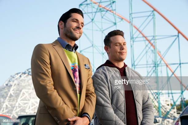 Tom Ellis and Kevin Alejandro in the Boo Normal/Once Upon a Time twohour bonus episode of LUCIFER airing Monday May 28 on FOX Photo by FOX Image...