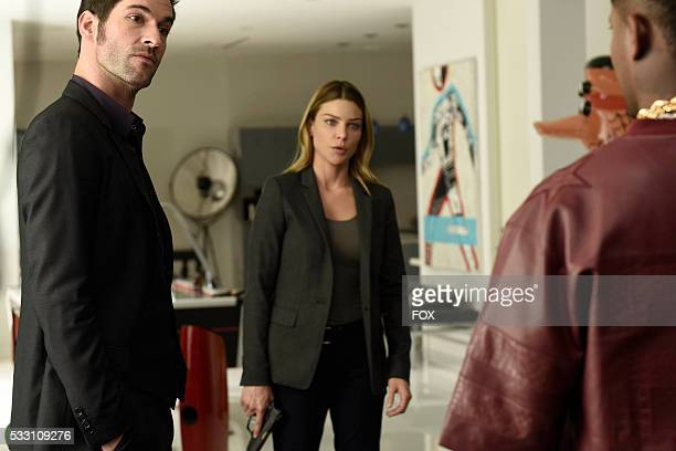 Tom Ellis and Lauren German in the Lucifer Stay Good Devil episode of LUCIFER airing Monday Feb 1 on FOX