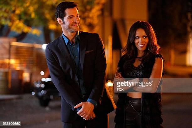 Tom Ellis and LesleyAnn Brandt in the Lucifer Stay Good Devil episode of LUCIFER airing Monday Feb 1 on FOX