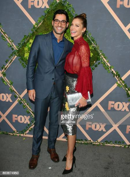 Tom Ellis and Tricia Helfer attend the FOX Fall Party on September 25, 2017 in Los Angeles, California.