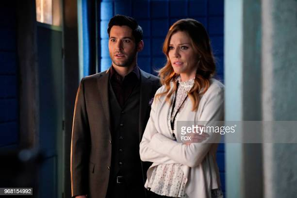 Tom Ellis and Tricia Helfer in the Quintessential Deckerstar episode of LUCIFER airing Monday May 7 on FOX Photo by FOX Image Collection via Getty...