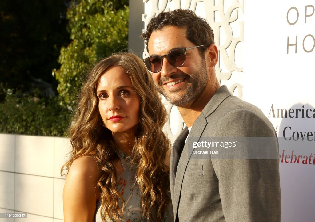 Tom Ellis And Wife Meaghan Oppenheimer Attend The American Friends News Photo Getty Images