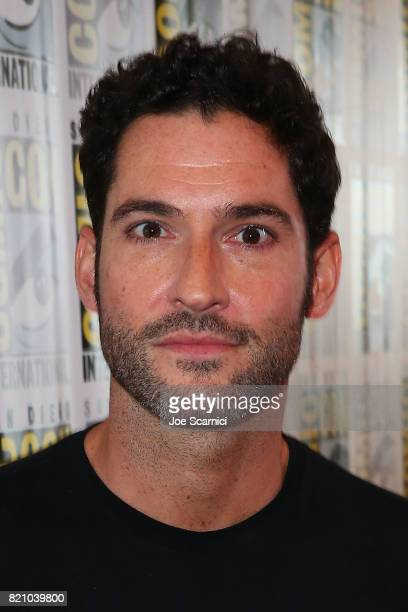 Tom Ellis arrives at the 'Lucifer' press line at ComicCon International 2017 on July 22 2017 in San Diego California