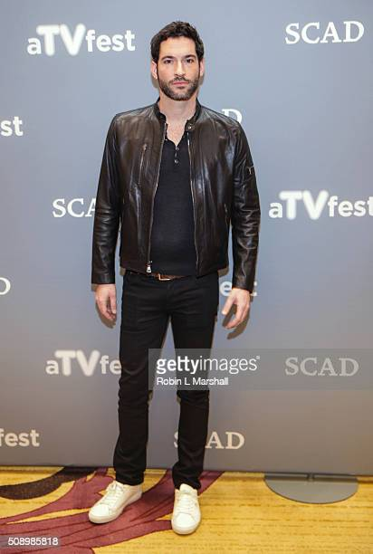 Tom Ellis attends the 'Lucifer' event aTVfest on February 7 2016 in Atlanta Georgia