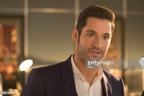 Tom Ellis in the Mr and Mrs Mazikeen Smith episode of LUCIFER airing Monday Oct 16  on FOX