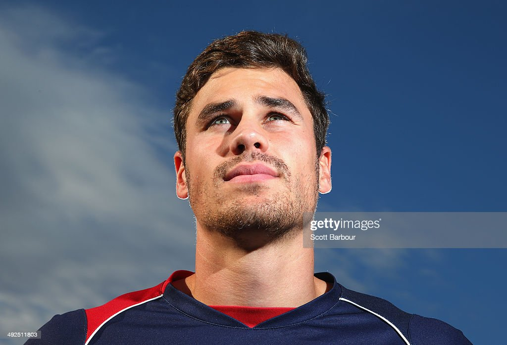 Tom English poses during a Melbourne Rebels Super Rugby training session at Visy Park on May 21, 2014 in Melbourne, Australia.
