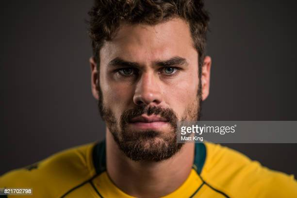 Tom English poses for a headshot during the Australian Wallabies Player Camp at the AIS on April 9 2017 in Canberra Australia