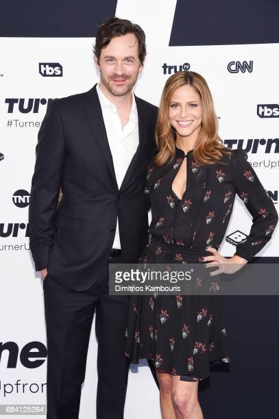 Tom Everett Scott and Andrea Savage attend the Turner Upfront 2017 arrivals on the red carpet at The Theater at Madison Square Garden on May 17 2017...