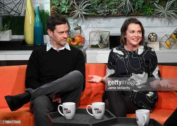 Tom Everett Scott and Larisa Oleynik visit BuzzFeed's AM To DM on January 14 2020 in New York City