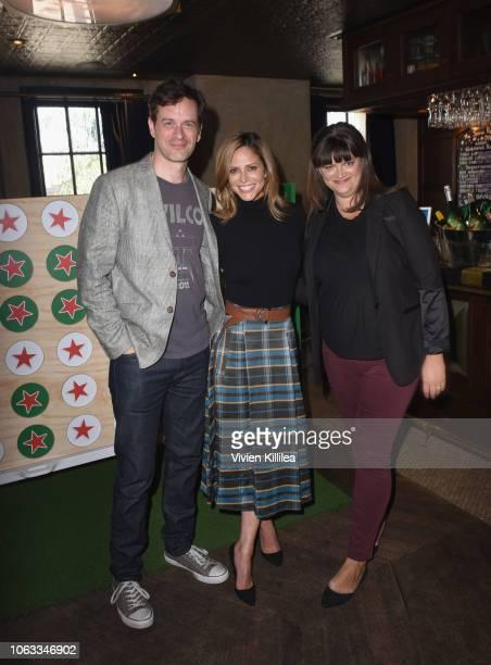 Tom Everett Scott Andrea Savage and Joey Slamon attend the Heineken Green Room during Vulture Festival Presented by ATT at Hollywood Roosevelt Hotel...