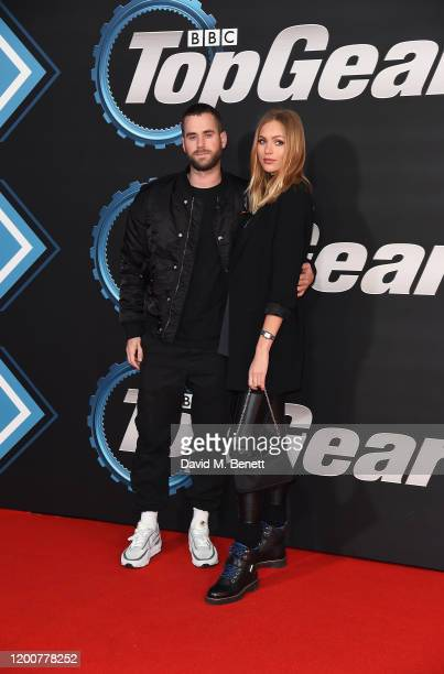 Tom Exton and Ianthe Rose CochraneStack attend the World Premiere of Series 28 of Top Gear at Odeon Luxe Leicester Square on January 20 2020 in...