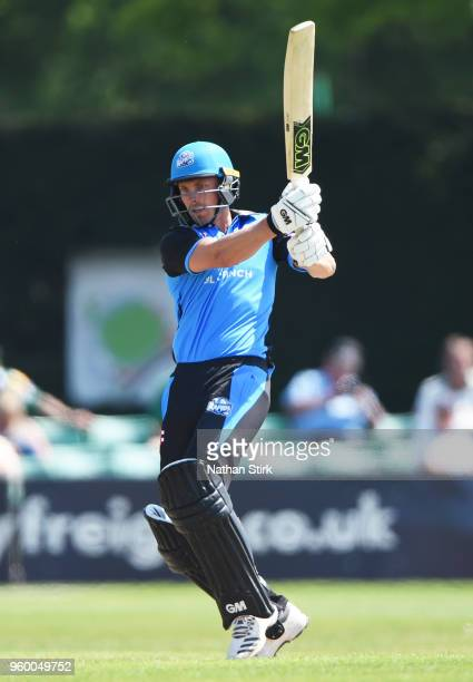 Tom Fell of Warwickshire batting during the Royal London OneDay Cup match between Worcestershire and Derbyshire at New Road on May 19 2018 in...