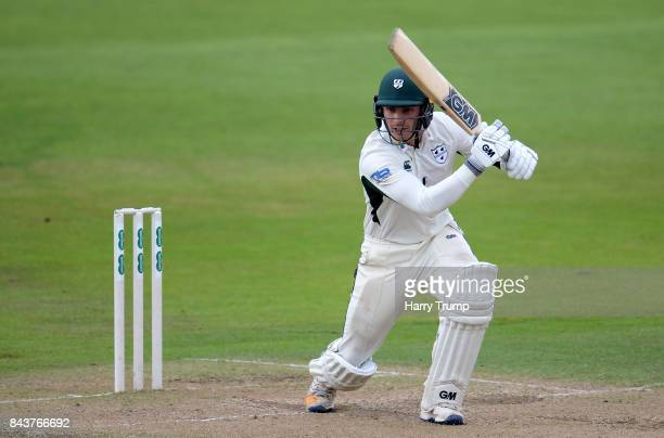 Tom Fell of Worcestershire bats during Day Three of the Specsavers County Championship Division Two match between Nottinghamshire and Worcestershire...