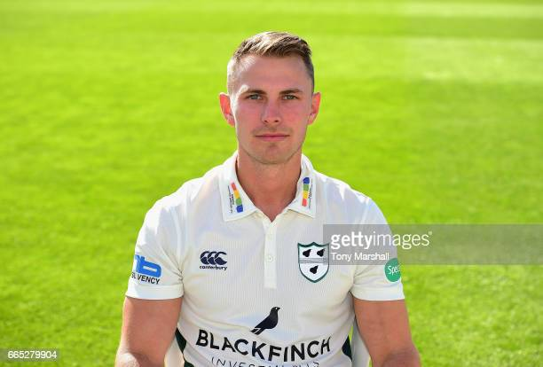Tom Fell of Worcestershire County Cricket club poses in the Specsavers County Championship kit during the Worcestershire County Cricket photocall...