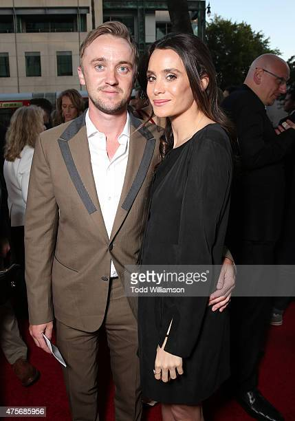 Tom Felton and Jade Olivia attend the Roadside Attractions' Premiere Of Love Mercy at the Samuel Goldwyn Theater on June 2 2015 in Beverly Hills...