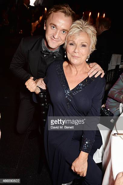 Tom Felton and Julie Walters attend the BFI London Film Festival IWC Gala Dinner in honour of the BFI at Battersea Evolution Marquee on October 7...