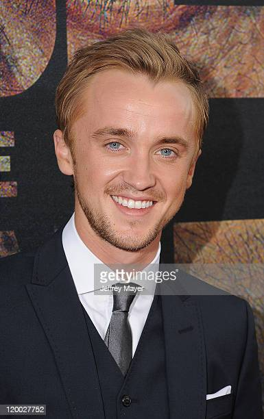 Tom Felton arrives at the'Rise Of The Planet Of The Apes' Los Angeles Premiere at Grauman's Chinese Theatre on July 28 2011 in Hollywood California
