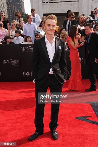 Tom Felton attends the premiere of Harry Potter and the Deathly Hallows Part 2 at Avery Fisher Hall Lincoln Center on July 11 2011 in New York City