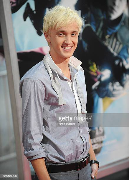 Tom Felton attends the premiere of 'Harry Potter and the HalfBlood Prince' at Ziegfeld Theatre on July 9 2009 in New York City