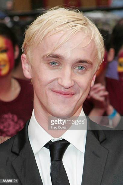Tom Felton attends the UK Premiere of Harry Potter and the HalfBlood Prince at Odeon Leicester Square on July 7 2009 in London England