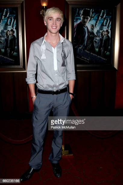 Tom Felton attends WARNER BROTHERS PICTURES Presents the North American Premiere of HARRY POTTER and the HALFBLOOD PRINCE at Ziegfeld Theatre on July...