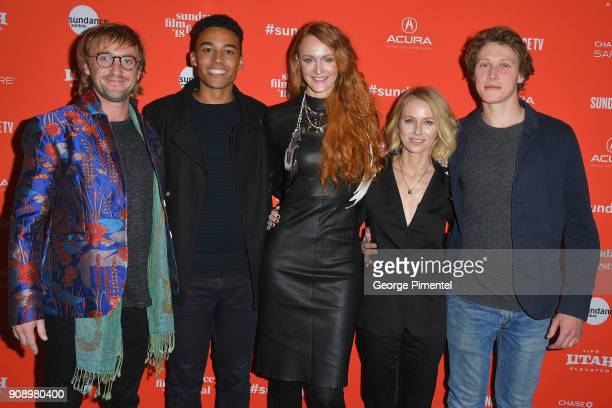 Tom Felton Devon Terrell Claire McCarthy Naomi Watts and George MacKay attend the Ophelia Premiere during 2018 Sundance Film Festival at Eccles...