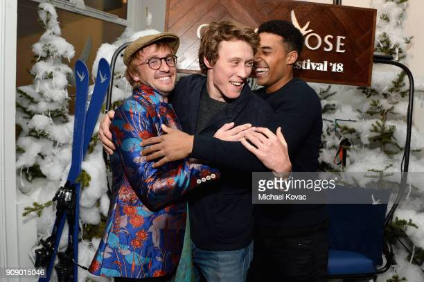 Tom Felton George MacKay and Devon Terrell attend the 'Ophelia' after party at Sundance Film Festival 2018 at The Grey Goose Blue Door on January 22...