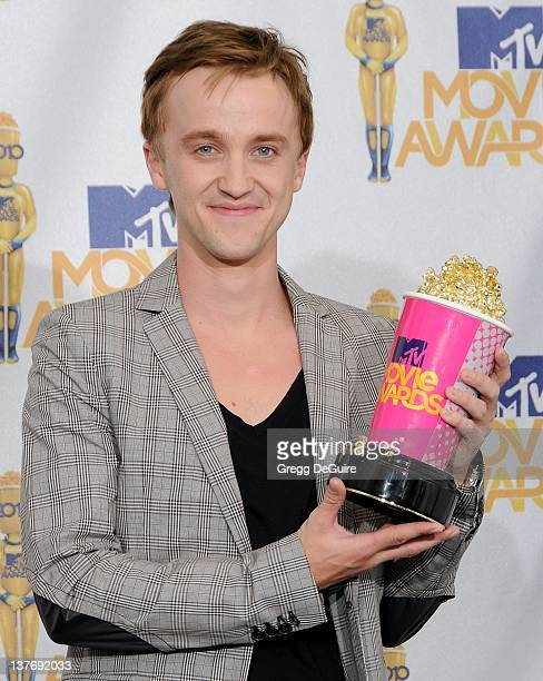 Tom Felton in the press room at the 2010 MTV Movie Awards at the Gibson Amphitheatre on June 6 2010 in Universal City California