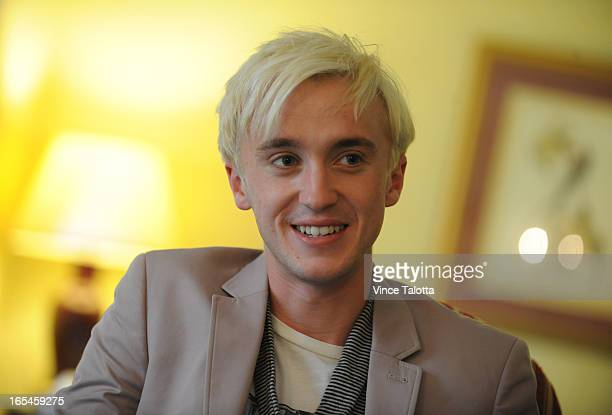 VT Tom Felton plays evil Draco Malfoy in the Harry Potter movies being interviewed at the Royal York Hotel