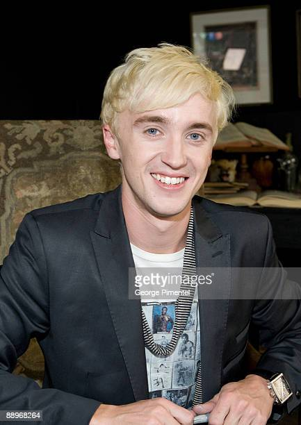 Tom Felton promotes Harry Potter The Half Blood Prince at MTV Canada Studios on July 8 2009 in Toronto Canada