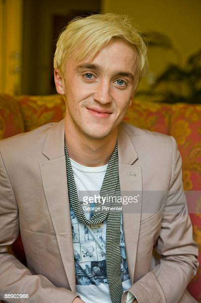 Tom Felton visits Toronto to promote Harry Potter The Half Blood Prince at the Fairmont Hotel on July 8 2009 in Toronto Canada