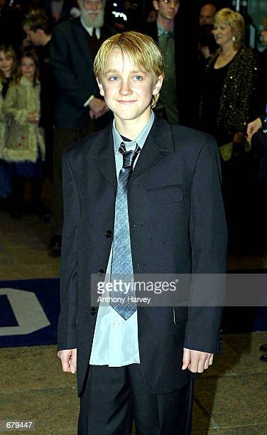 Tom Felton who plays Draco arrives for the world premiere of Harry Potter and the Philosopher's Stone November 4 2001 in London