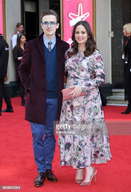 Tom Fletcher and Giovanna Fletcher attend the Prince's Trust Celebrate Success Awards at the London Palladium on March 15 2017 in London England
