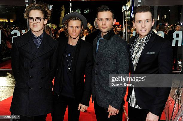 Tom Fletcher Dougie Poynter Harry Judd and Danny Jones of McFly attend the World Premiere of 'Thor The Dark World' at Odeon Leicester Square on...