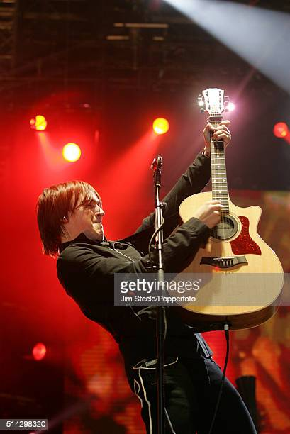 Tom Fletcher of McFly performing live on stage at the T4 Poll Winners' Party 2005 With Smash Hits at Wembley Arena Pavilion on November 20th 2005 in...