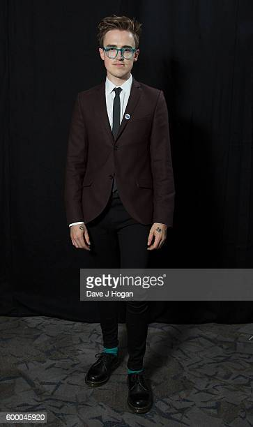 Tom Fletcher poses backstage at the Daily Mirror and RSPCA Animal Hero Awards at Grosvenor House on September 7 2016 in London England