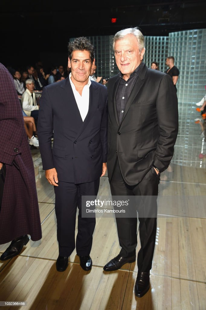 Tom Florio and Sidney Toledano attend the Marc Jacobs Spring 2019 Runway Front Row during New York Fashion Week: The Shows at Park Avenue Armory on September 12, 2018 in New York City.