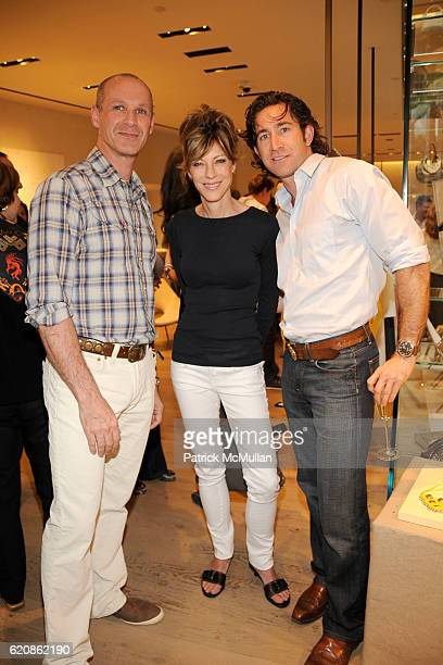 Tom Flynn Robbie Myers and Ed Fogarty attend Rory and Elie Tahari celebrate the Summer Collection with Kenny Scharf at Elie Tahari Flagship Store on...