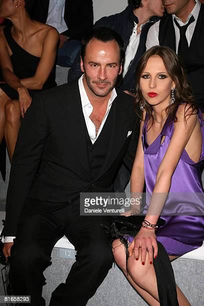 Tom Ford and Allegra Versace attend Versace fashion show as part of Milan Fashion Week Spring/Summer 2009 on June 21 2008 in Milan Italy