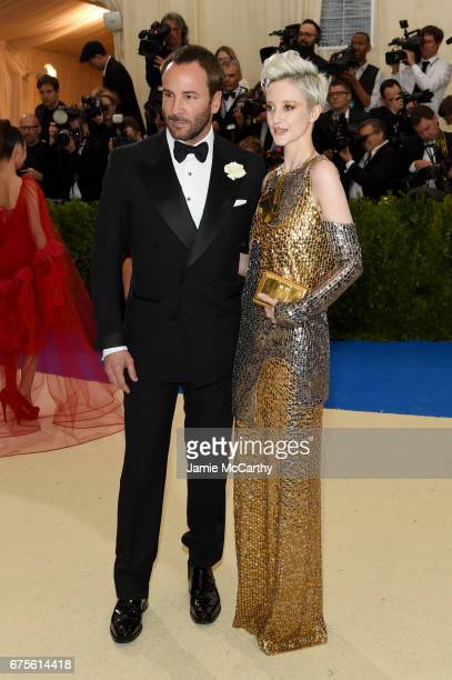 Tom Ford and Andrea Riseborough attend the 'Rei Kawakubo/Comme des Garcons Art Of The InBetween' Costume Institute Gala at Metropolitan Museum of Art...