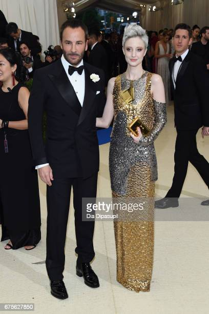 Tom Ford and Andrea Riseborough attends the 'Rei Kawakubo/Comme des Garcons Art Of The InBetween' Costume Institute Gala at Metropolitan Museum of...