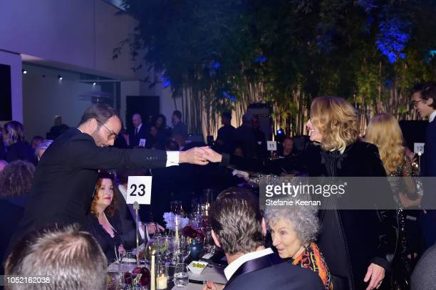 Tom Ford and Ann Philbin attend the Hammer Museum 16th Annual Gala in the Garden with generous support from South Coast Plaza at the Hammer Museum on...