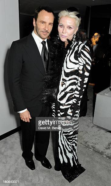 Tom Ford and Daphne Guinness attend the launch of the new Tom Ford London flagship store on Sloane Street on September 15 2013 in London England