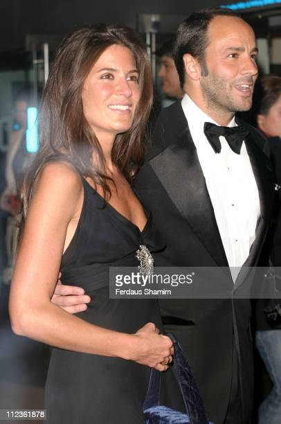 Tom Ford and Elizabeth Saltzman during The Times BFI London Film Festival Closing Night Premiere of 'Sylvia' at Odeon Leciester Square London in...
