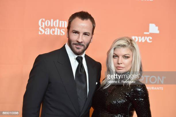 Tom Ford and Fergie attend The Trevor Project's 2017 TrevorLIVE LA on December 3 2017 in Beverly Hills California